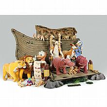 Impresssive Studio Size Noah's Ark One-of-a-Kind Sculpture, Steiff for Disney