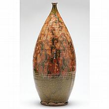 Large Modernist Studio Pottery Bottle Vase