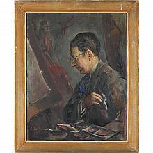 Birney Quick (MN, 1912-1981), Portrait of the Artist