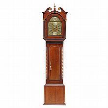 George III Inlaid Tall Case Clock, Thomas Winstanley