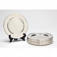 Set of (12) Sterling Silver Bread Plates