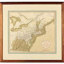 Early 19th Century English Map of the Eastern Seaboard, Virginia to Maine