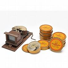 The Kinora Perpetual Motion Picture Viewer With Reels