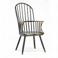 English Painted Windsor Hoop Back Arm Chair