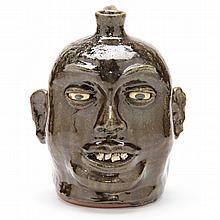 Georgia Folk Pottery Face Jug, Lanier Meaders (White County, 1917-1998)