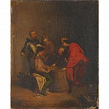 French School (19th century), The Dice Players