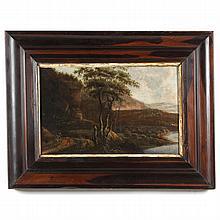 Antique Dutch School Landscape Painting