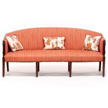 English Hepplewhite Eight Leg Sofa