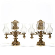 Lewis Veron & Co., Pair of Argand Lamps
