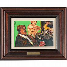 Romare Bearden (1914-1988),Storyville - Piano Interlude