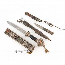 Three Classic Tibetan Blade Weapons