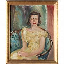 Robert Goodnough (NY, 1917-2010), Portrait of Sara Elizabeth Sherrill