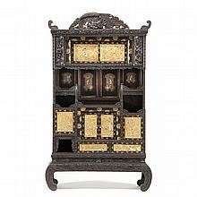 Unusual Japanese Shibayama Style Cabinet