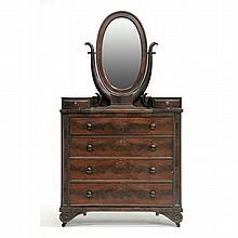 att. Thomas Day, Classical Semi Tall Chest with Mirror