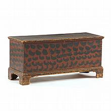 North Carolina Paint Decorated Diminutive Blanket Chest
