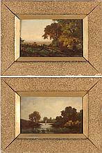 Pair of Hudson River School Landscapes