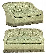 Pair of Edwardian Style Loveseats