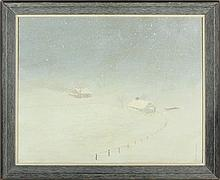 C. Petersen (NY, 20th c.), Snowy Landscape