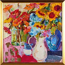 Jaquelin Perry (NC, b. 1955), Summer Vases