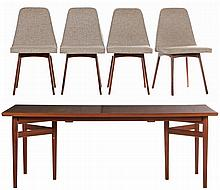Helge Sibast, Danish Dining Table and Chairs