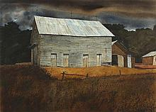 Robert B. Dance (NC, b. 1934), Weathered Barn