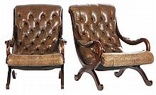 Pair of Campeche Style Arm Chairs