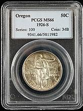 1926-S Oregon Trail Half Dollar, PCGS MS66