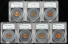 Seven PCGS High Grade Lincoln Cents