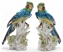 Pair of Italian Ceramic Parrots