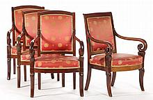 Four Neoclassical Arm Chairs
