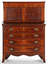 Federal Inlaid MA Lady's Desk and Bookcase