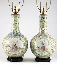 Pair of Chinese Export Porcelain Large Vases