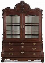 Dutch Two Part Baroque Cabinet