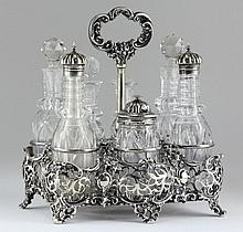 English Silverplate Caster Set, 19th Century