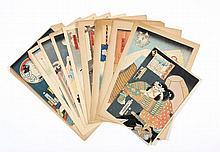 Ten Japanese Woodblock Prints by Toyokune III