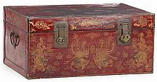 Asian Red Lacquered Trunk