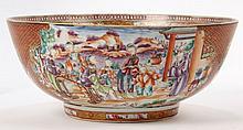 Chinese Export Porcelain Bowl, Rose Mandarin