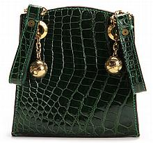 Green Crocodile Evening Bag, Jean Claude Jitrois