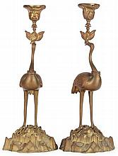 Pair of William IV Bronze Candlesticks