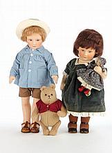 Two R. John Wright Limited Edition Dolls
