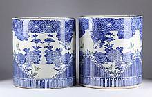 Pair of Japanese Porcelain Planters