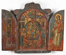 A Portable Triptych, Icon of the Dormition