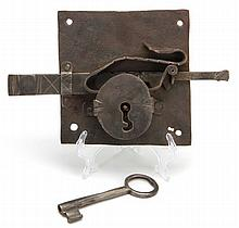 Antique Iron Lock and Key