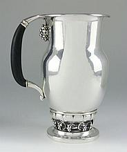 Danish Silver Water Pitcher by Georg Jensen