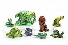 Group of Zsolnay Figural Animals