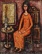 Italian School (20th century), Woman in Orange