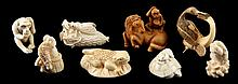 Group of Eight Japanese Animal Netsuke