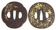 Two 19th Century Japanese Iron Tsubas