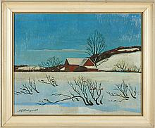 Arthur E. Cederquist (PA, 1884-1955), Barn in Snow