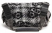 Camellia Tweed Camera Bag, Chanel